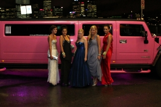 Pink Stretch Limousine Formal