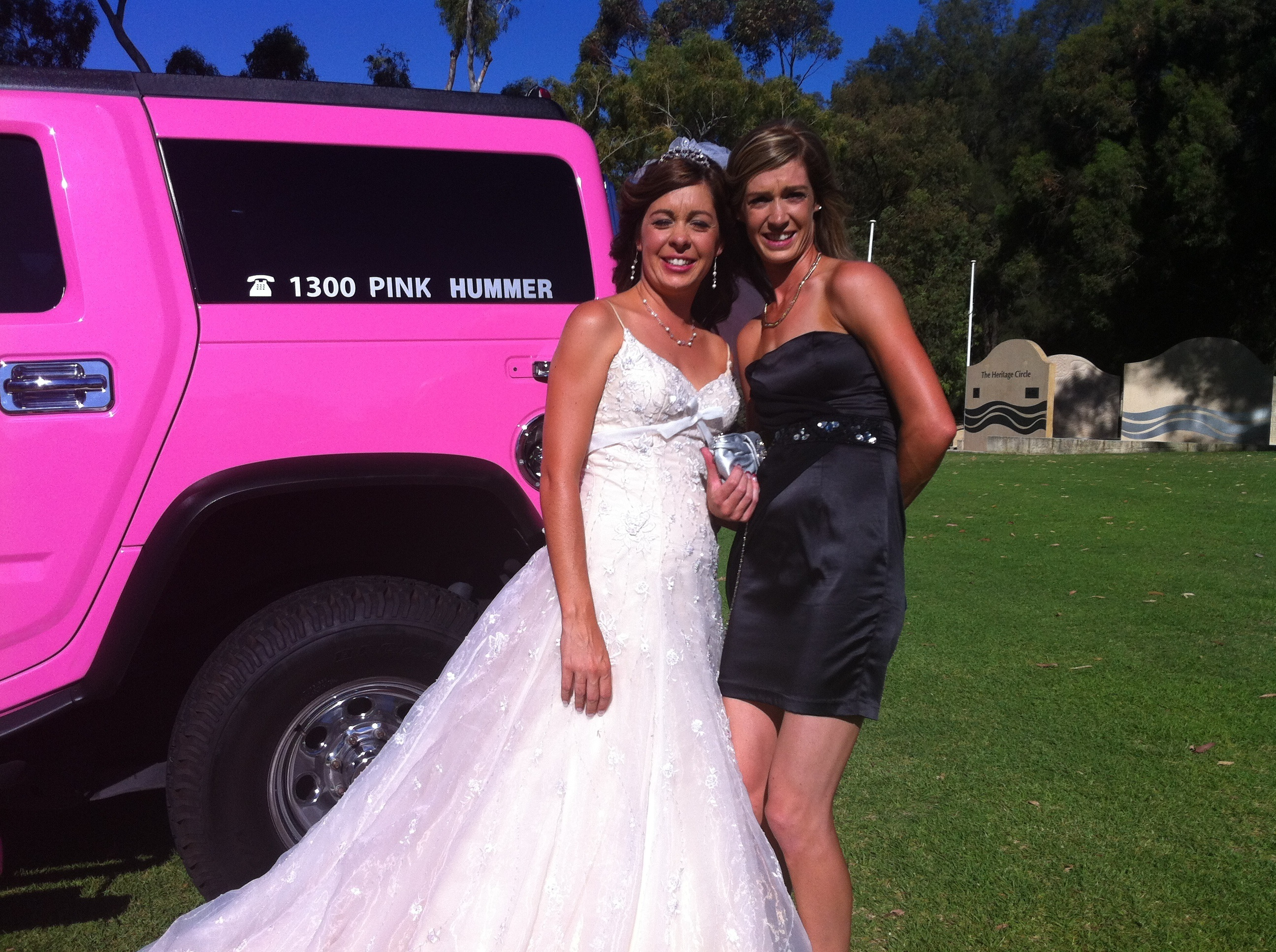 Pink Hummer Wedding Day
