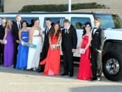 White Hummer School Formal