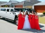 Hummer Limousine White Wedding