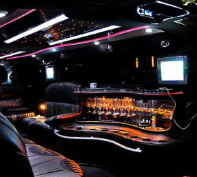 Interior of Hummer limo