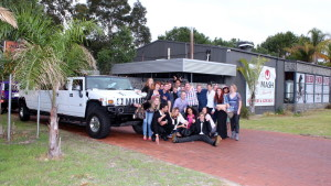 Group of revellers on Swan Valley Tour